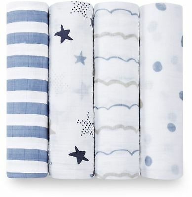 Aden + Anais CLASSIC SWADDLE - 4 PACK - ROCK STAR Baby BNIP