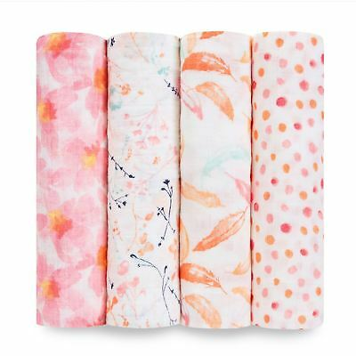 Aden + Anais CLASSIC SWADDLE - 4 PACK - PETAL BLOOMS Baby BNIP
