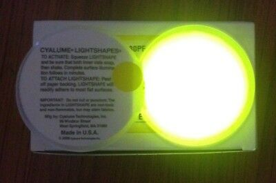 Job Lot 100 x Yellow Round Cyalume Glow Lightshapes Sticks To Most Surfaces 8hrs