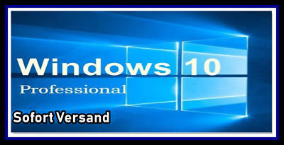 Windows 10 Professional Key Vollversion 32/64 BIT Win Pro Online Aktivierung