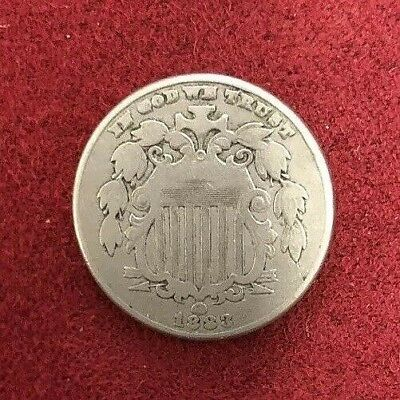.05c 1883 Shield Nickel-Extremely Rare-High Grade-Last Year Of Issue