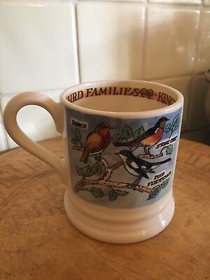 Emma Bridgewater Kingfisher & Insect Eaters 1/2 Pint Mug New 1st Bird Families