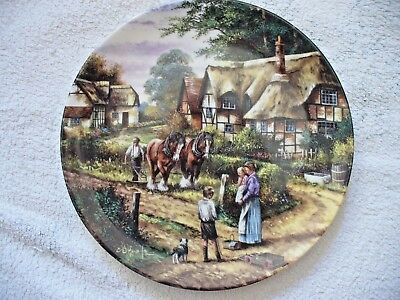 Wedgwood Country Days Collectors Plate-Ploughing.