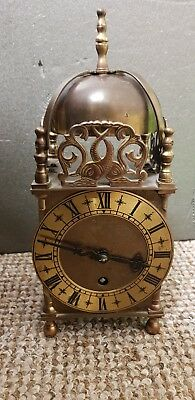 Rare Smiths Brass Lantern Clock. 8 day with key and working.