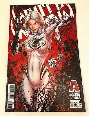 Rare Absolute Comics Group White Widow #1 Jamie Tyndall Red Foil Variant Cover