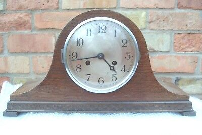 Mantel  Clock Striking Mauthe  Napolean Hat  Clock Working Key  Pendulum