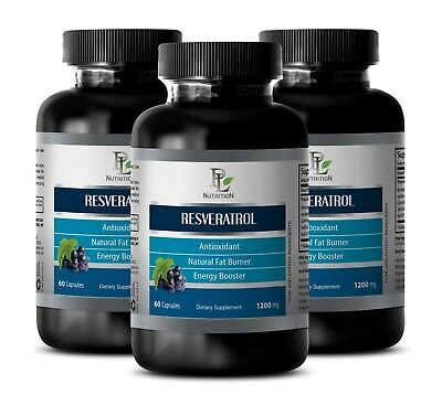 anti aging supplement - RESVERATROL 1200mg - polyphenol supplement 3 Bottles