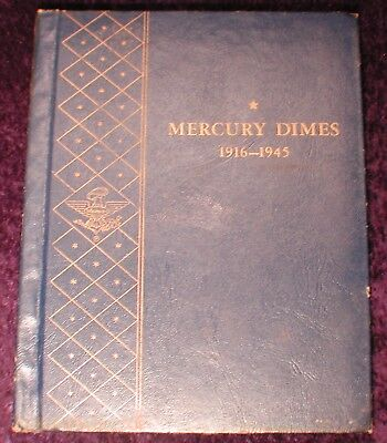 Mercury Dimes Album Dated 1916 to 1945 1921 Key Date 10c US Silver 72 Coin Lot