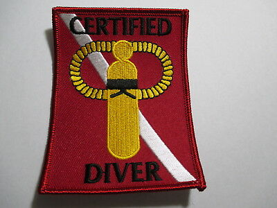 Scuba Diver Patch  Very Cool 3 x 4 inches