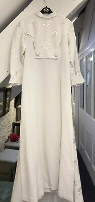 1960's / 70's Original Vintage Wedding Dress With Train 6-8