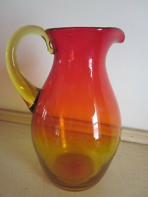 Vintage Blenko  Amberina Glass Pitcher