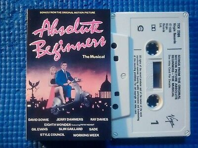 Absolute Beginners CASSETTE  David Bowie/Sade/Style Council Full Test NO OFFERS