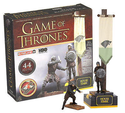 Game of Thrones House Stark Banner Pack McFarlane Toys 44 Pieces New in Box