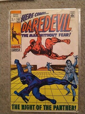 DAREDEVIL (Marvel Comics) #52 (1969) - very rare, see photos for condition