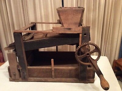 Vintage Seed Cleaner Fanning MiRustic Primitive decor Farm Salesman Sample