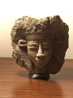 Extremely Rare Ancient Egyptian Stone Carved Goddess Head Fragment