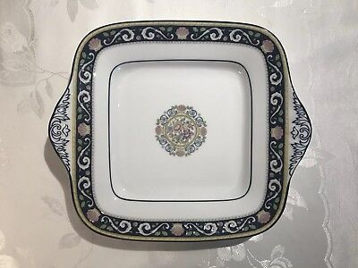 Wedgwood Bone China, Square Handled Cake Plate, Runnymede Blue