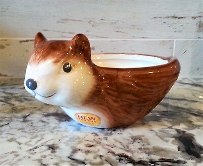 SQUIRREL Snack Bowl Thanksgiving Fall Nut Dish Better Homes & Gardens New Cute