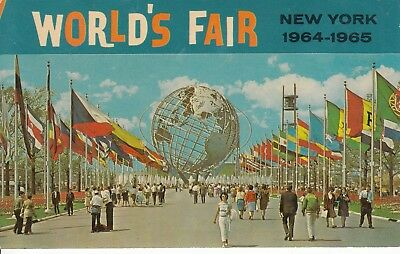 Lot of 8 Postcards NY Worlds Fair 1964-1965 All Color Postcards.