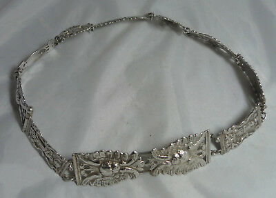 Victorian Continental Silver Belt & Buckle 234g 26.3inches A689117