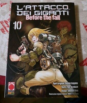 Manga - L'attacco Dei Giganti - Before The Fall 10 Planet Manga Panini Nuovo