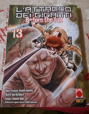 Manga - L'attacco Dei Giganti - Before The Fall 13 Planet Manga Panini Nuovo