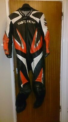 Spidi Men's Well Used Motorcycle One Piece Race Leathers - Size 56 Eur / 46 UK