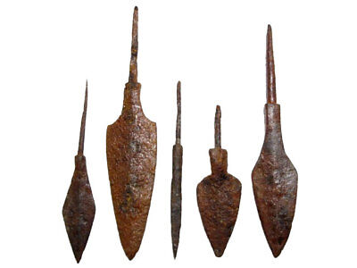 LOT OF 5pcs. ANCIENT IRON ARROW HEADS, WELL PRESERVED+++