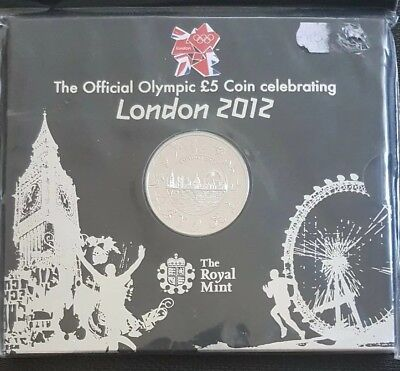 The official London 2012 Olympic 5 pound coin