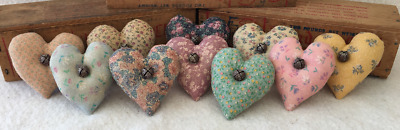 Primitive Ornies Mini Hearts  Bowl Fillers Make Do's Prim Ornies Tucks Nodders