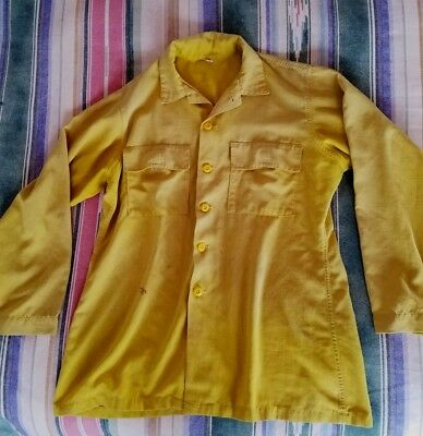 Wildland Firefighter Yellow Fire Resistant Shirt Men's X Large XL Wildfire