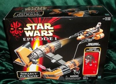 "Star Wars Phantom Menace Episode 1 Series Sebulba's Podracer Pod Racer 4"" Scale"