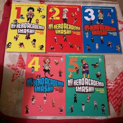 MY HERO ACADEMIA SMASH!! 1-2-3-4-5 Serie Completa Star Comics Nuovi
