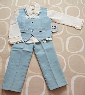Vintage Wedding Suit 1970s/1980s Boys Size 3 Page Boy Formal NEW NEVER WORN