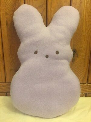 Large Primitive Peeps Bunny Shelf Sitter Plush Pillow Doll Easter Handmade New