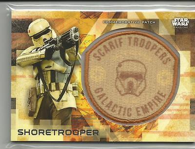 Topps Star Wars Rouge One Series 2 Shoretrooper Commemorative Patch #ed 17/ 50