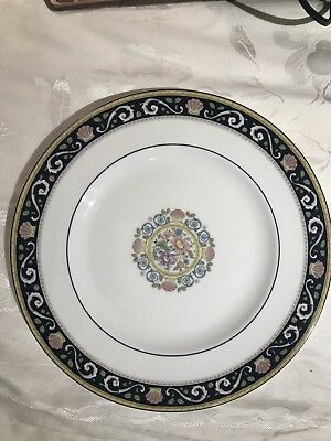 "WEDGWOOD Bone China ""Runnymede"" BLUE 10-3/4"" Dinner Plates"