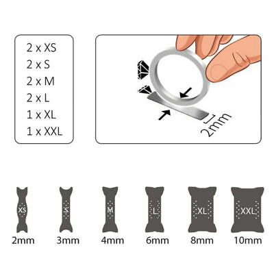10X Ring Size Adjuster Portable Assorted Types Ring Size Reducer Jewelry Guard