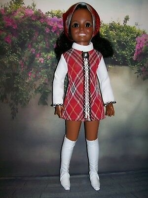 """"""" College Days In White/Red """" OOAK Outfit For Your Vintage Ideal Crissy Doll"""