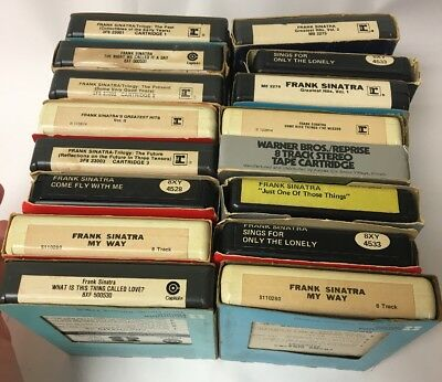 Lot Of 16 Frank Sinatra 8 Eight Track Tapes