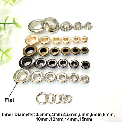 Eyelet with Washer Leather Craft Repair Grommet ID 3.5/4/5/6/8/10/12/14/15mm