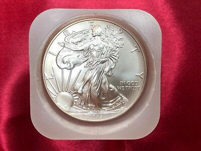 2014 1 oz Silver American Eagle  Brilliant Uncirculated Coin .999 1oz. BU