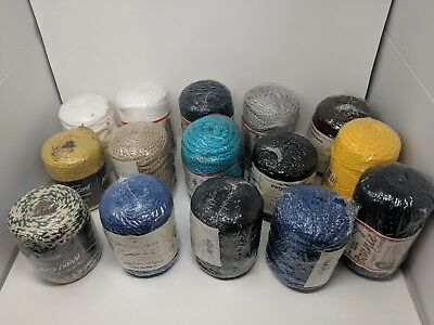 Lot of 26 Rolls 6mm Braided Macrame Craft Cord 2600 yds Multiple Brands + Colors