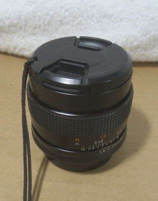 Carl ZEISS 50mm f/1.4 T* Planar Lens For CY Contax Yashica AEJ Cameras very Nice