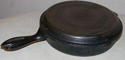 Antique Vintage Wagner Ware Cast Iron 5 Star Skillet Set With Lid Skillet 1403 B