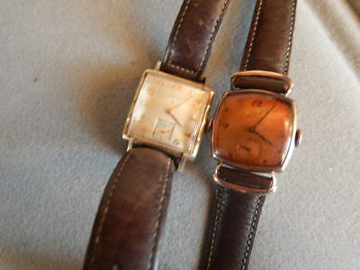 Vintage Lot Of Two (2) Elgin Art-Deco Watches - Rose Gold Toned Case-Dial