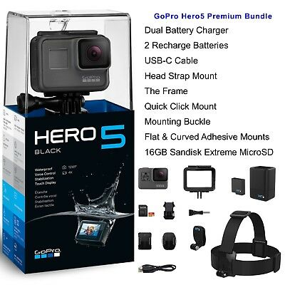 GoPro HERO5 Black Bundle 4K Ultra HD Action Camera - CHDCB-501