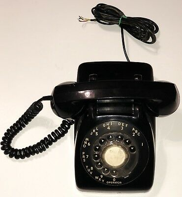 Automatic Electric Black Rotary Dial Telephone Vintage Not Tested