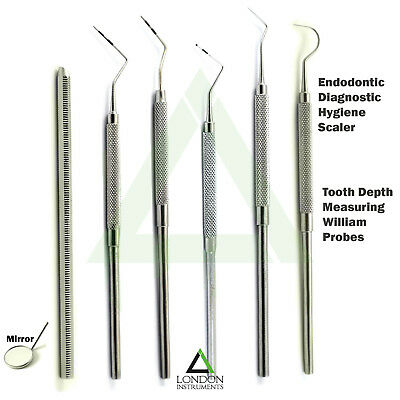 Dental Periodontal Sickle Scaler Diagnostic Calculus Plaque Tartar Remover Lab