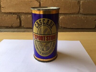 Cascade Export Stout 13 Fl OZ.  Str Sided Steel Beer Can.